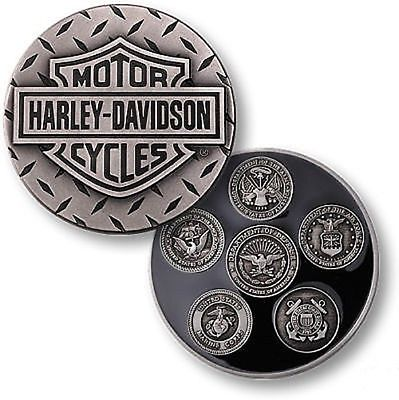 Harley Davidson / Armed Forces ~1.75oz .999 Silver Challenge Coin