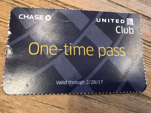 United Club One-Time Pass Feb 28, 2017