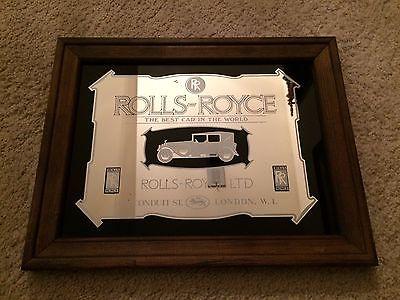 Framed Rolls Royce Vintage Car Picture Mirror