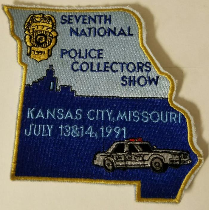 7th Annual National Police Collectors Meet Kansas City MO July 1991 Cloth Patch