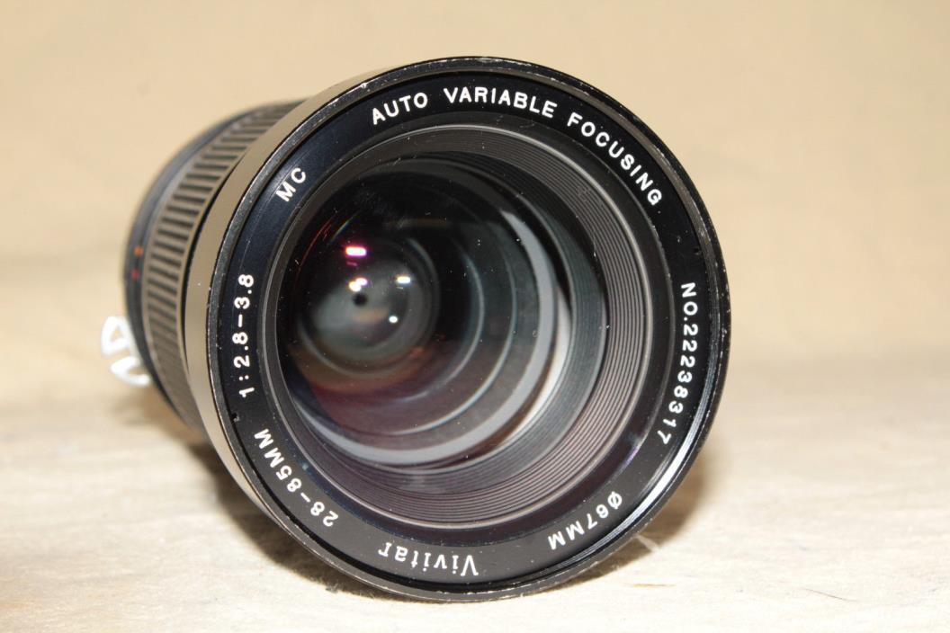 VIVITAR KIRON 28-85mm 1:2.8-3.8 MC AUTO VARIABLE FOCUSING ZOOM LENS NIKON Ai