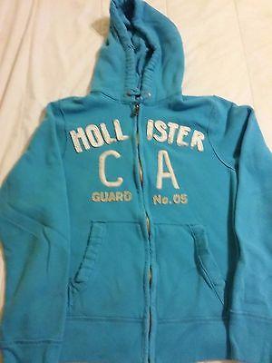 Hollister Sweatshirt  Size Large L Zip Up Hoodie Aqua
