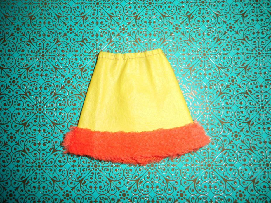 VINTAGE BARBIE ~ #1477 HOORAY FOR LEATHER ~ YELLOW SKIRT MATTEL