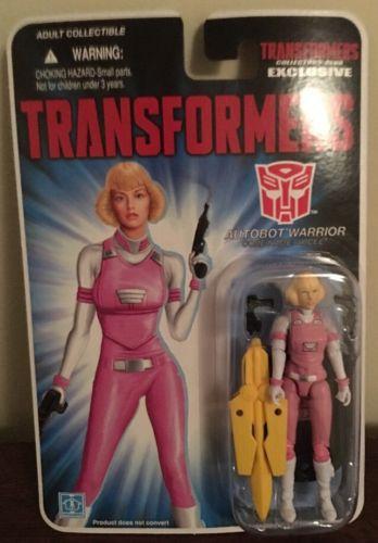 Gi Joe Transformers Exclusive Arcee Autobot Warrior Moc