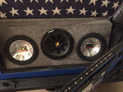 Custom Jeep TJ Sub Box & 2 MTX Audio 10