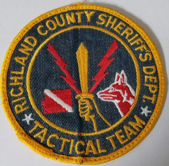Richland County Sheriff's Department Tactical Team Cloth Patch