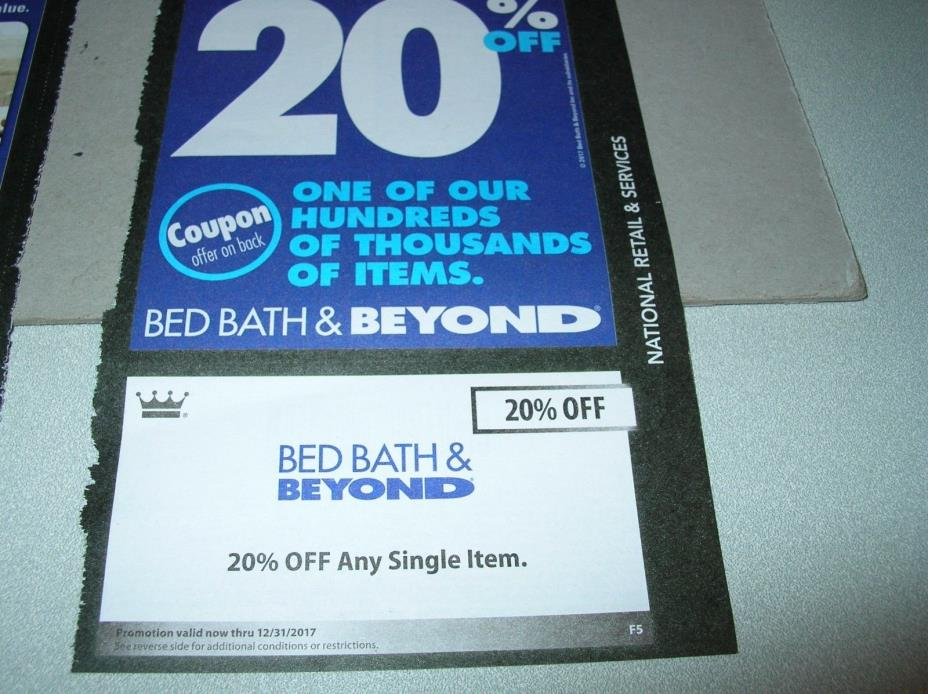 ExpDec2017 Gift Card coupon 2x Bed Bath & Beyond 20% off item home towels decor