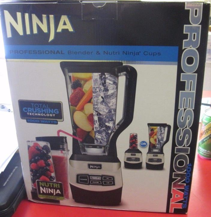 Professional Blender Single Serve Black/Chrome BL660WM NINJA NEW 1000W