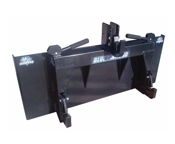 Blue Diamond 3-Point Conversion Adapter Skid Steer Attachment, Category 2