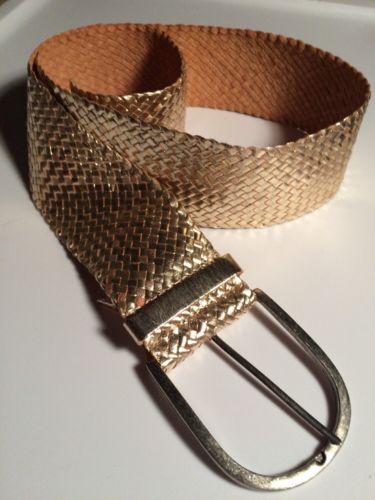 Women's gold Leather Belt Size Large