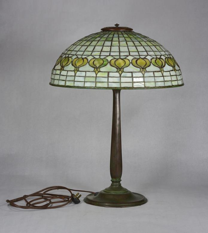 Tiffany Studios Pomegranate Lamp Original Circa 1900