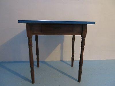 Vintage Enamel Top Work Table