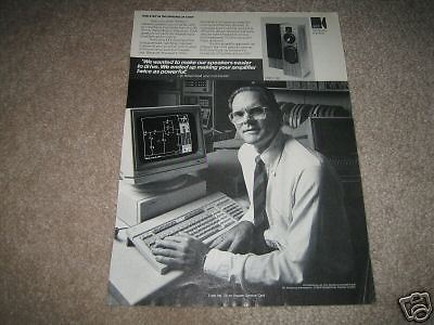 KEF C80 Speaker Ad from 1987,Nice AD! Vintage Reference