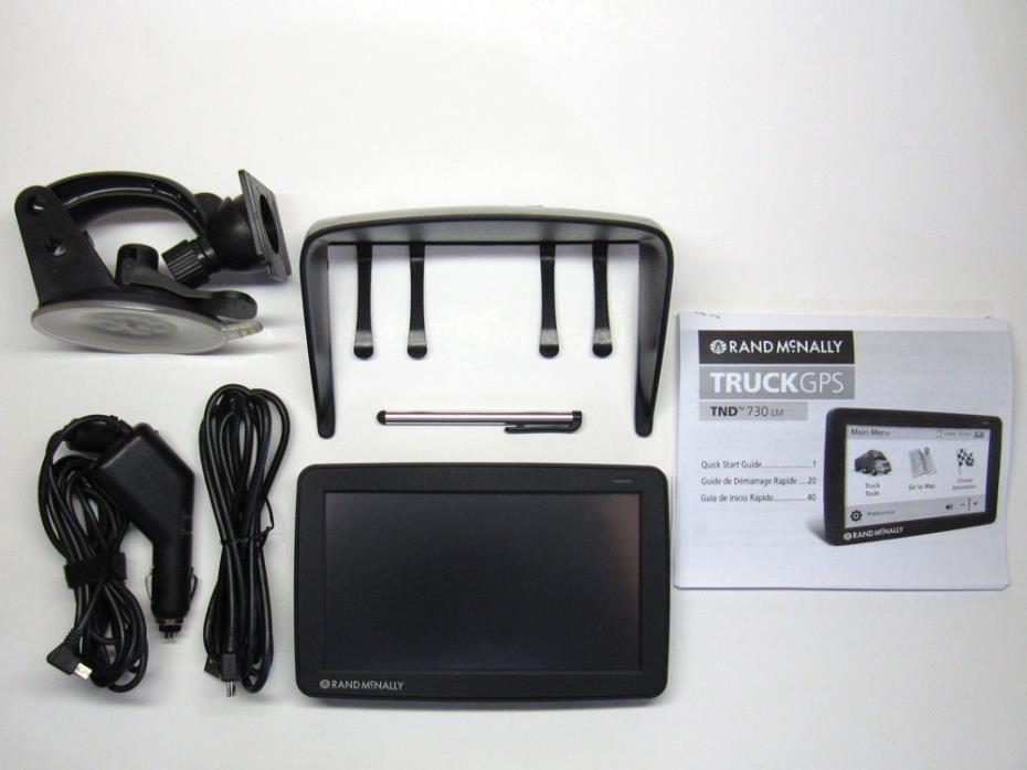 Rand Mcnally IntelliRoute TND 730LM 730 LM Truck GPS