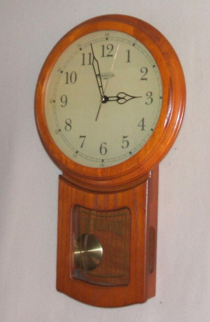 Brownstone Schoolhouse Pendulum Wall Clock
