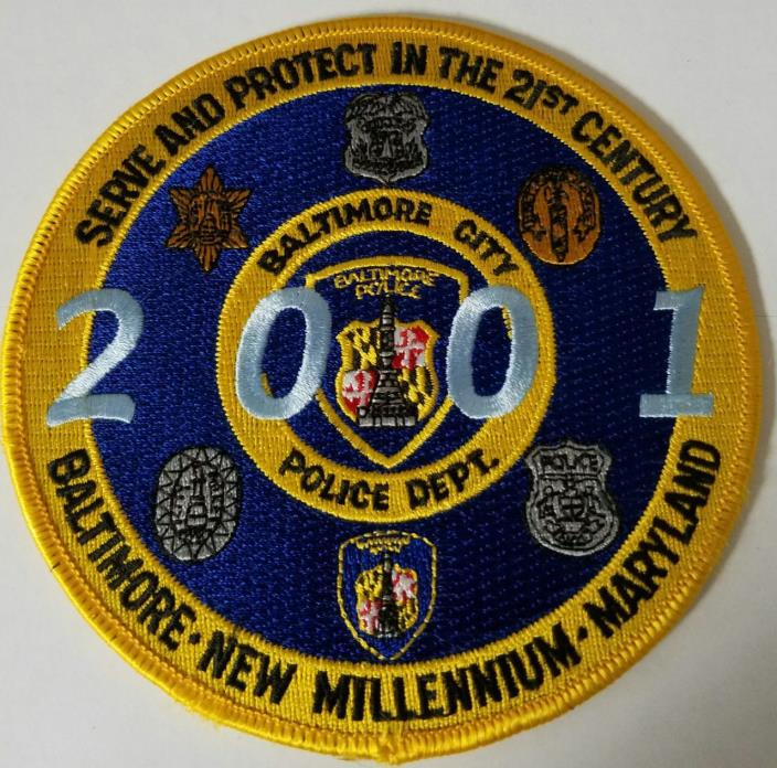 Baltimore Police Department 2001 New Millennium Cloth Patch