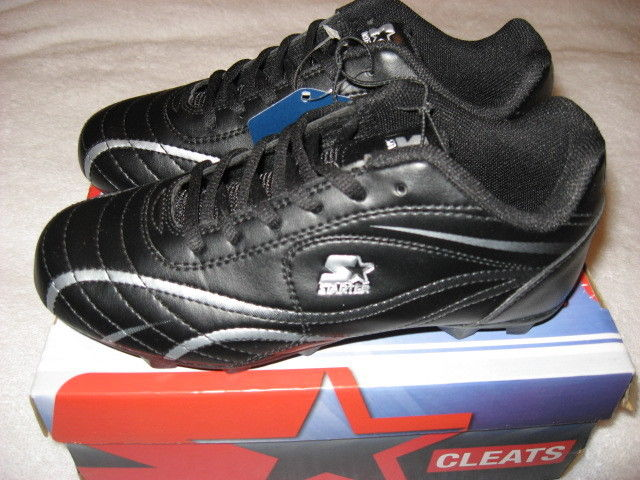 Boy's Starter All Purpose Cleat Black Perform Shoes Size 13 USA 19 MEX 31 EUR