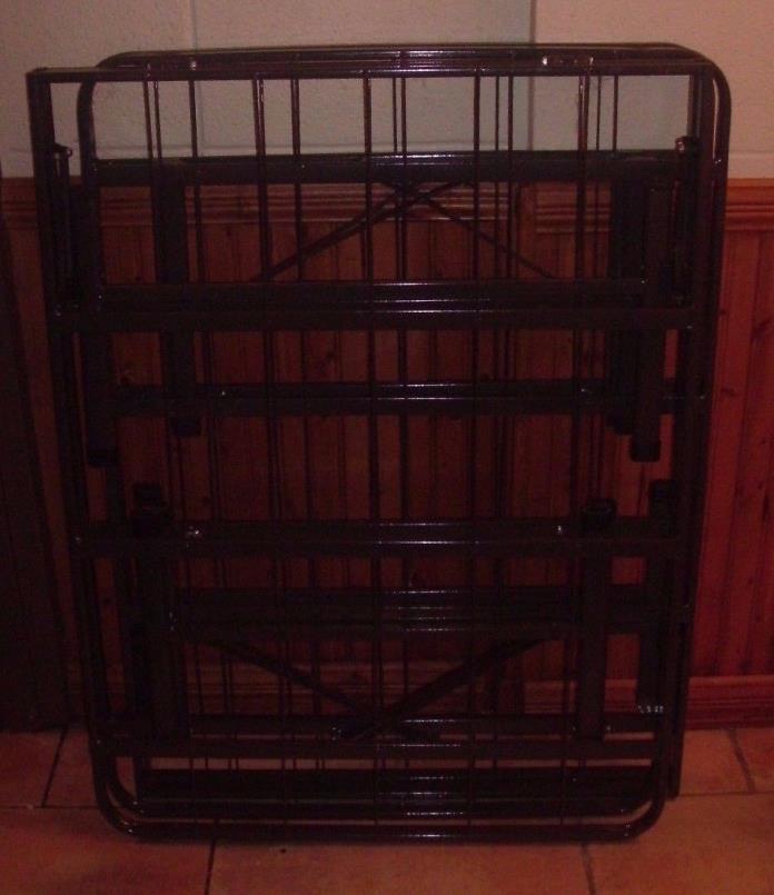 QUEEN SIZE  Bi-Fold Folding Platform Metal Bed Frame