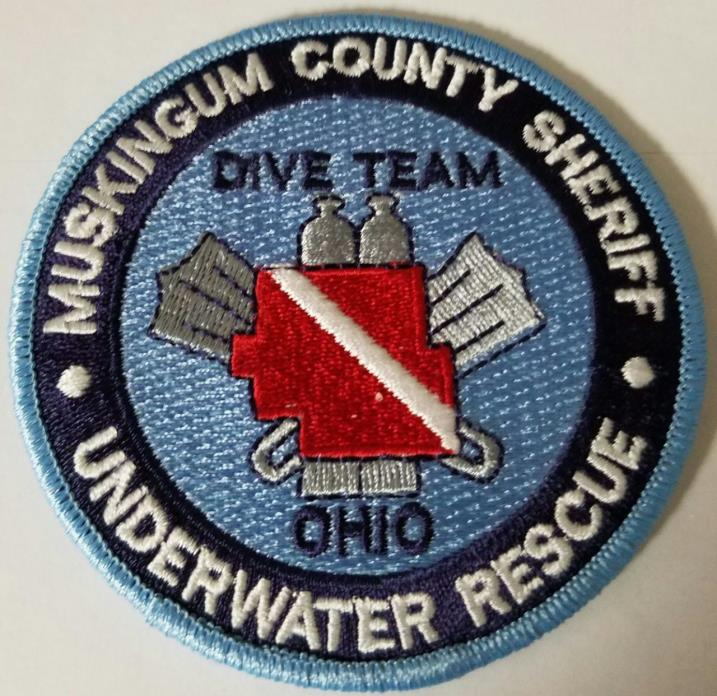 Muskingum County Ohio Sheriff Underwater Rescue Dive Team Cloth Patch