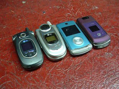 Junk Drawer:Lot of 4 Verizon phones:Samsung,LG,Motorola *TESTED* Parts & Repair