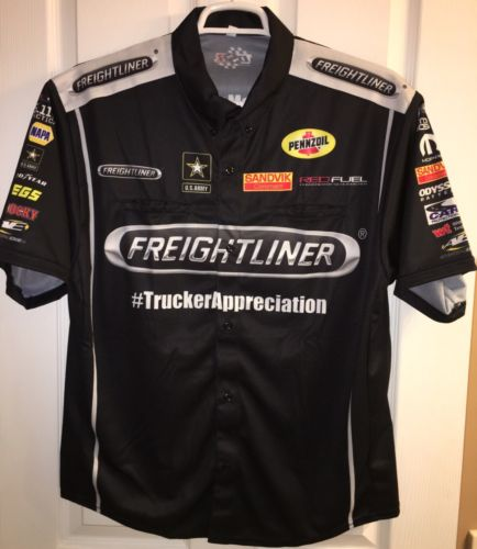 LG Massey FREIGHTLINER MOPAR NHRA Don Schumacher Pit Crew Shirt Drag Racing HEMI