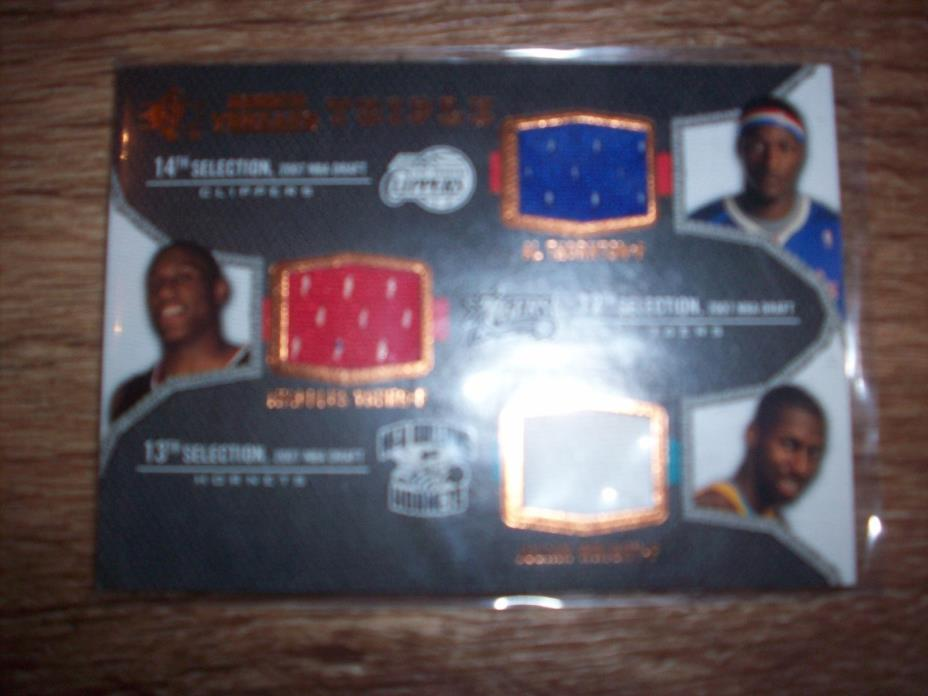 2007-08 SP ROOKIE THREADS TRIPLE JERSEY AL THORNTON THADDEUS YOUNG JULIAN WRIGHT