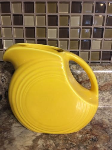 Vintage Fiesta Yellow Juice Pitcher