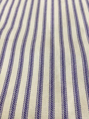 Vintage Blue Stripe Ticking Striped Fabric 4 Yards 8 Inches 56 Width