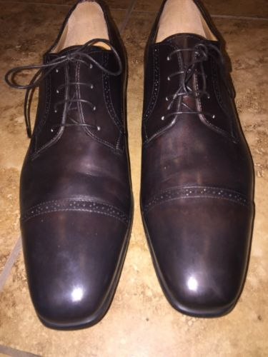 Santoni Brown Oxford Size 10 1/2 D Men's Shoes Retail $625