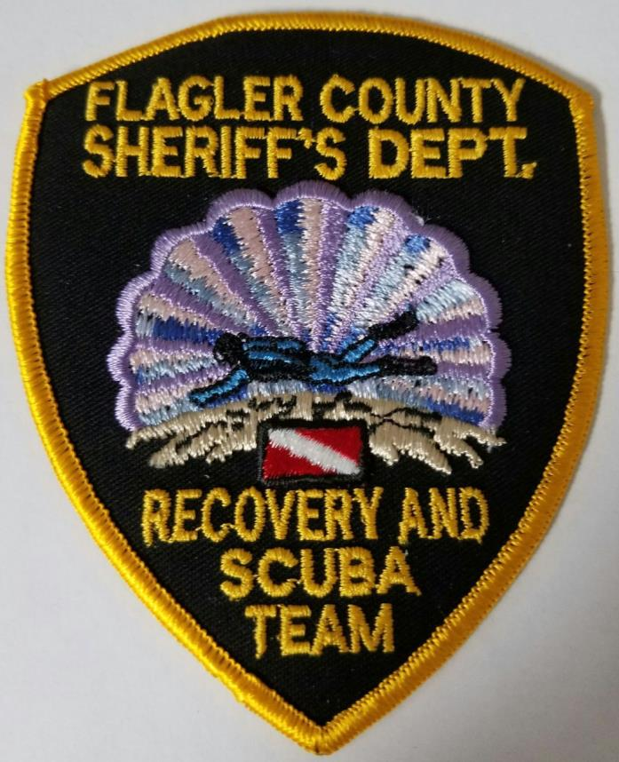 Flagler County Sheriff's Department Recovery & Scuba Team Cloth Patch