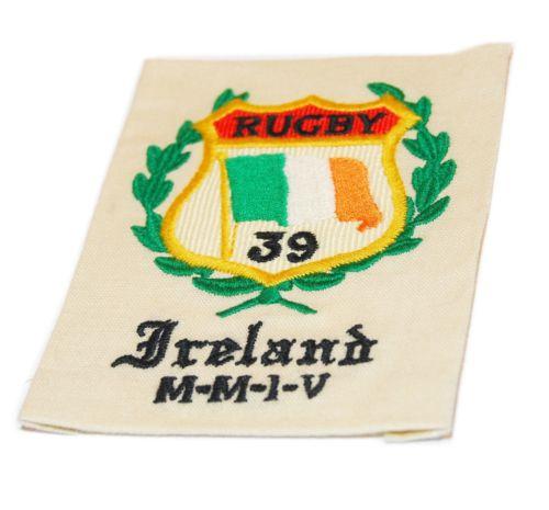 Polo Ralph Lauren Rugby Vintage Rare University Patch Ireland Green Orange