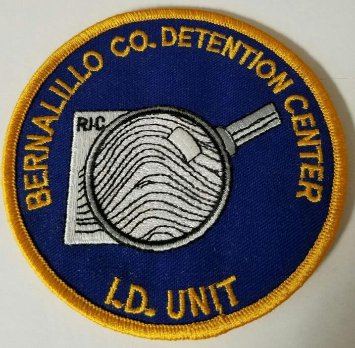 Bernalillo County Detention Center ID Unit Cloth Patch