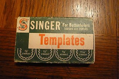 Singer Sewing Machine Attachments - Templates Buttonholers 160506 and 160743