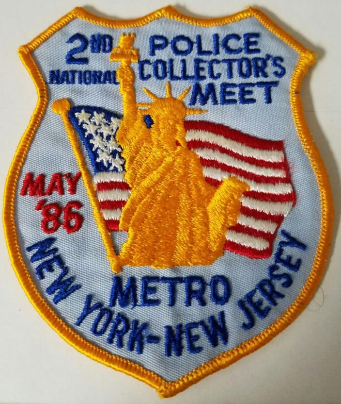 2nd Annual National Police Collectors Meet New York - New Jersey '86 Cloth Patch
