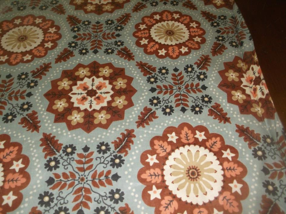 vtg beautiful chintz sewing fabric, 9 yds 35
