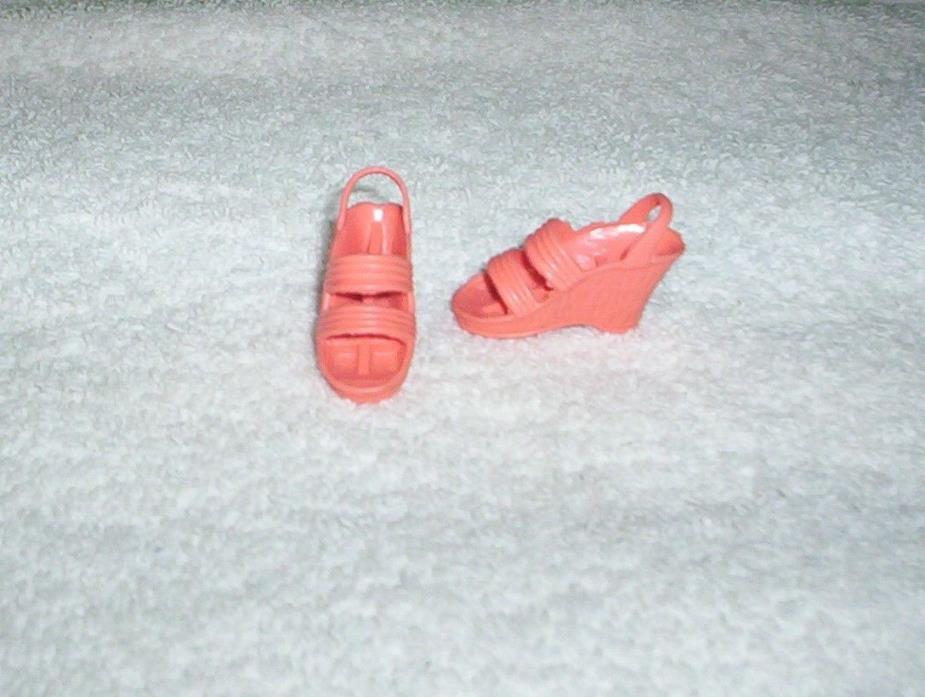 Vintage 1970's BIONIC WOMAN Peach Dream Sandals Wedge Shoes Kenner