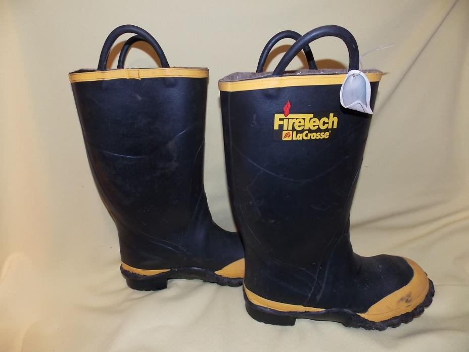 Firefighter Boots 9 WIDE LaCrosse FireTech Rubber Steel Safety Toe Fire Boots