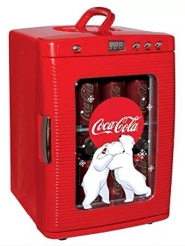 Compact Coca-Cola 28 Can Mini Refrigerator, Countertop Coke Dorm Office Fridge
