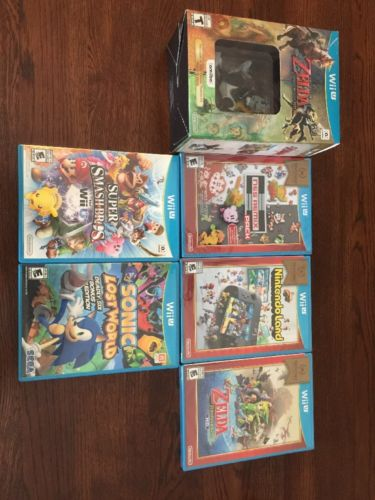 nintendo wii u game lot Most New! Smash Bro, Zelda Etc! Free Expedited Shipping!
