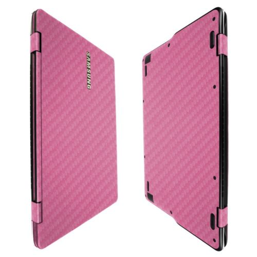 Skinomi Pink Carb Fiber Skin+Screen Protector For Samsung Notebook 9 Spin 13.3