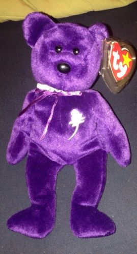 Rare Princess Diana Ty Beanie Baby W/Necklace Mint  Retired #416 Mint