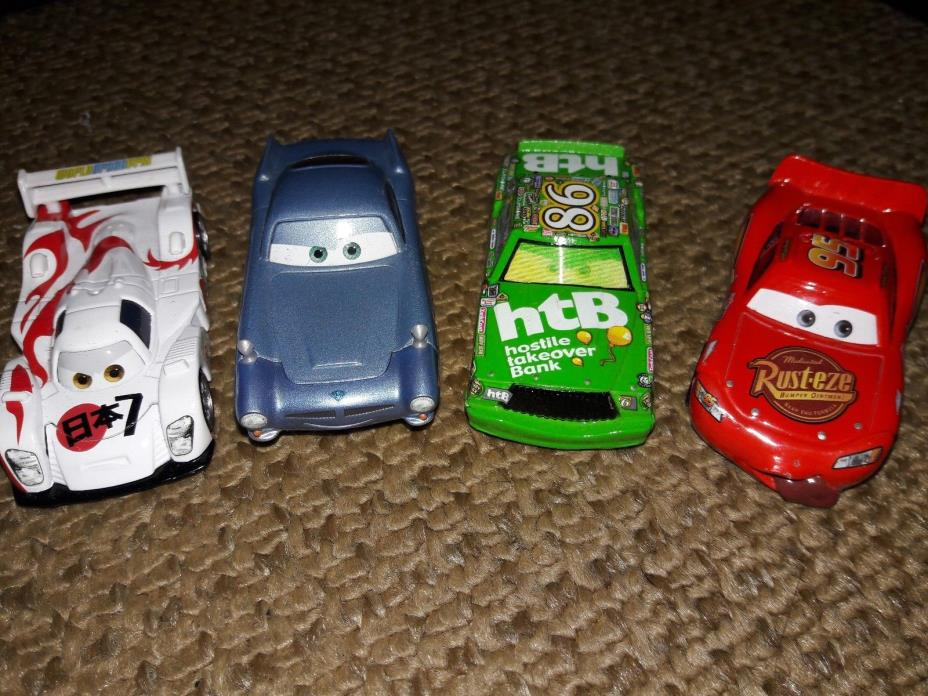 lot of 4 cars from the movie CARS