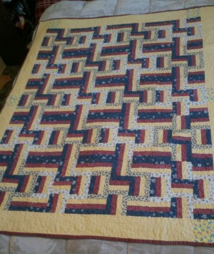 Quilt Blanket Log Cabin Patchwork  Twinkle Little Star Baby Blanket