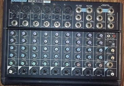 Samson Mixpad 12 Stereo 12-Channel Mixer (No Power Adapter)