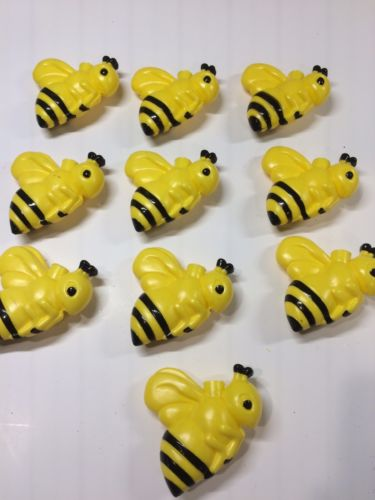 Bumble Bee Mini Light Covers Christmas Tree RV Tiki Bar Yellow Jacket