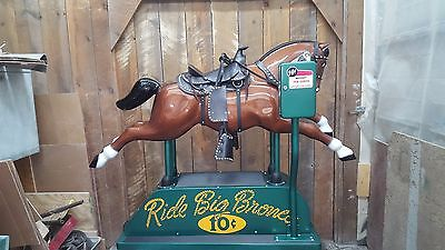 Coin operated horse kiddie ride 1950s amusement 10 cent