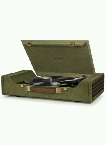 New Green 3 speed Crosley NOMAD vinyl record player turntable  Fast  Free Ship