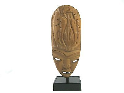 African Wood Carved Mask Nigeria Tribal