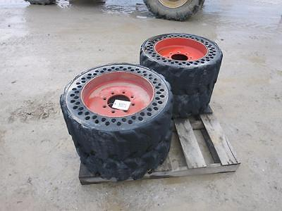 Air Boss Solid Rubber Industrial Tires For BOBCAT Skid Steer , 8 Lug Pattern