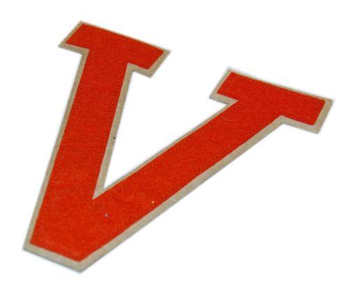 Polo Ralph Lauren Rugby University Patch Varsity Letter Letterman V Orange